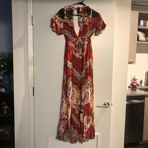Free People CoCo Red Maxi Dress